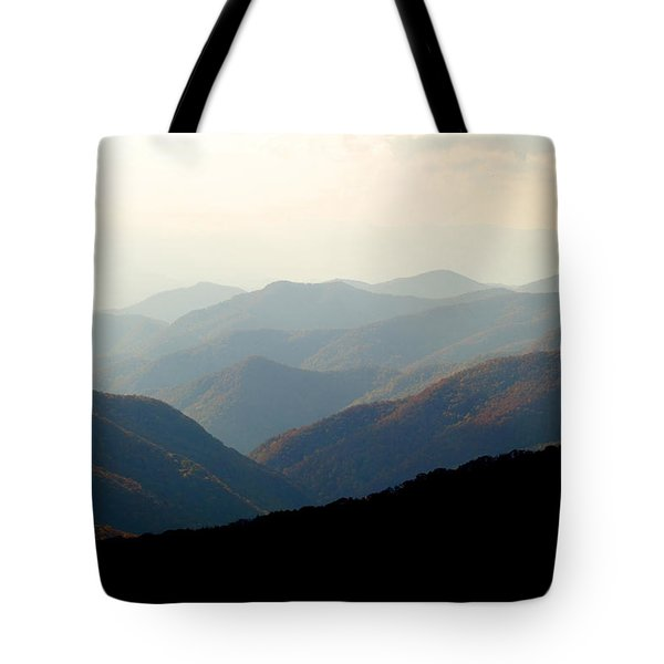 Smoky Mountain Overlook Great Smoky Mountains Tote Bag by Rich Franco