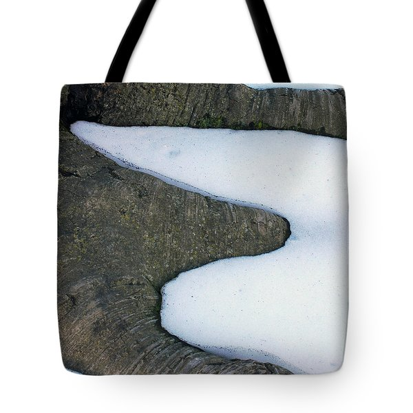 Snow Abstract Tote Bag by Lisa  Phillips