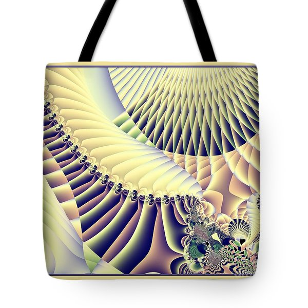 Snow Capped Mountains And Verdant Valleys Fractal 156 Tote Bag by Rose Santuci-Sofranko