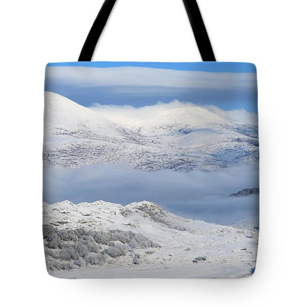 Snow Covered Landscape In Winter Near Tote Bag by Peter Zoeller