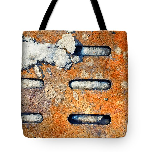 Snow on ground Tote Bag by Silvia Ganora