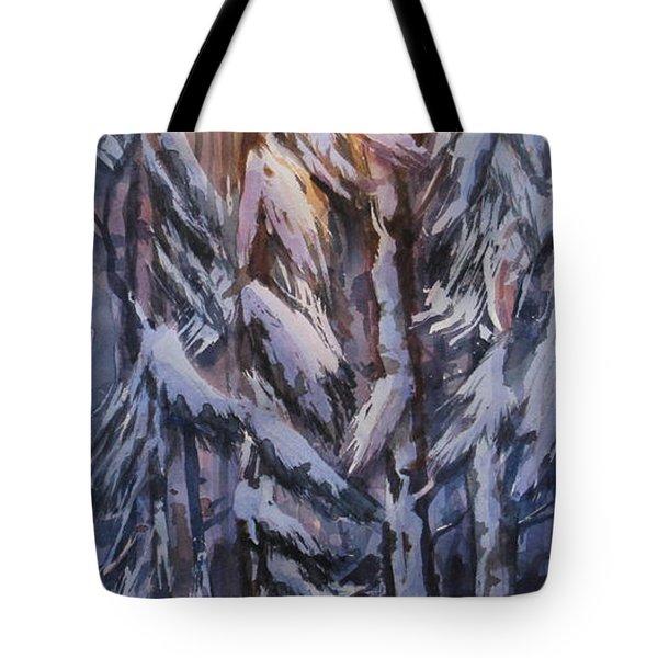 Snow Splattered 1 Tote Bag by Mohamed Hirji