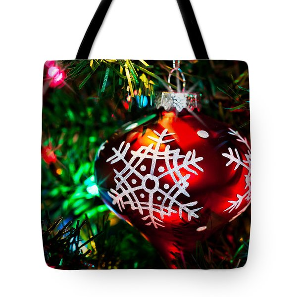 Snowflake Ornament Tote Bag by Christopher Holmes