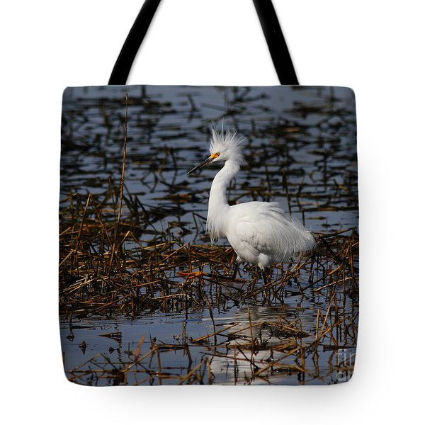 Snowy Egret . Solitude . 7d11963 Tote Bag by Wingsdomain Art and Photography