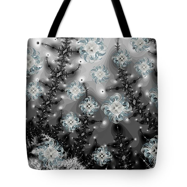 Snowy Night I Fractal Tote Bag by Betsy C Knapp