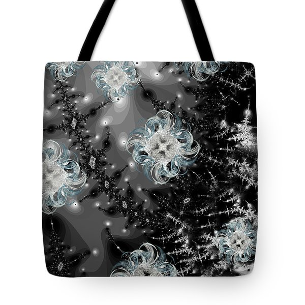Snowy Night III Fractal Tote Bag by Betsy A  Cutler