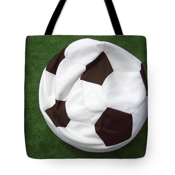 Soccer ball seat cushion Tote Bag by Matthias Hauser