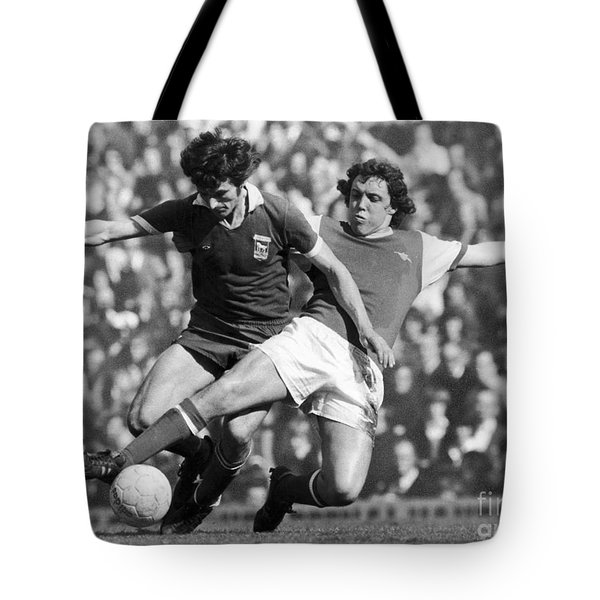 Soccer Tackle, 1976 Tote Bag by Granger