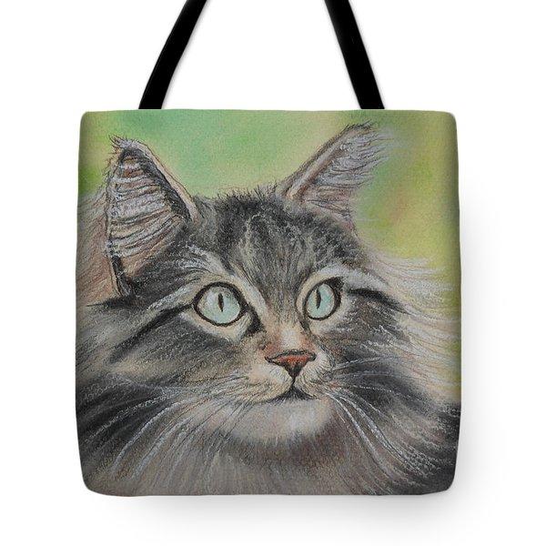 Soft Kitty Tote Bag by Julie Brugh Riffey