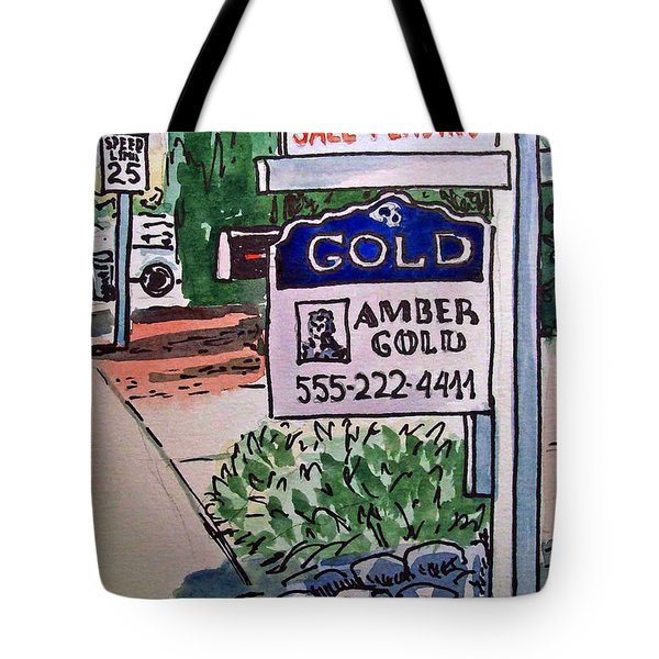 Sold Sketchbook Project Down My Street Tote Bag by Irina Sztukowski