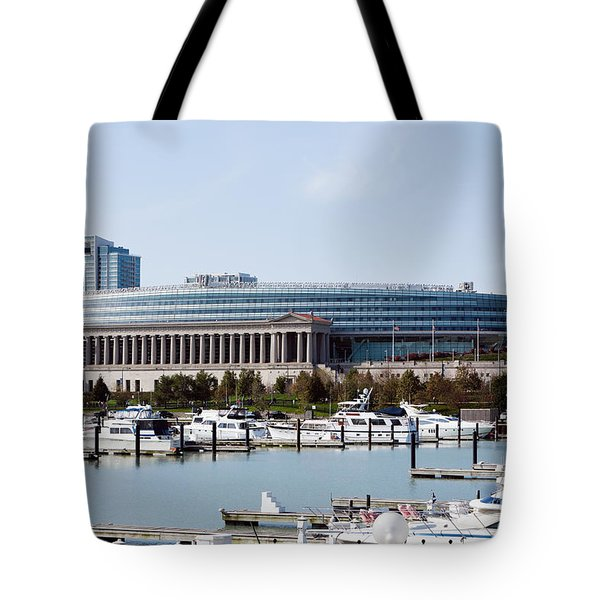 Soldier Field Chicago Tote Bag by Paul Velgos
