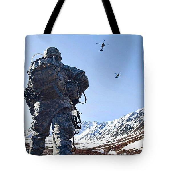 Soldier Patrols Through Alaska's Tote Bag by Stocktrek Images