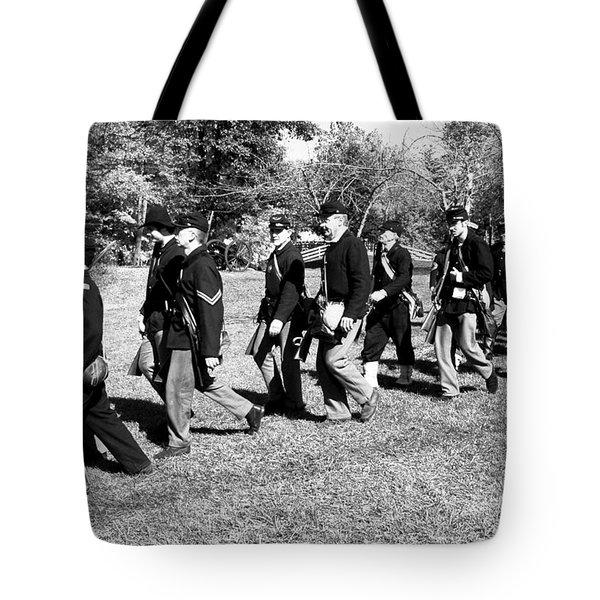 Soldiers March Tote Bag by LeeAnn McLaneGoetz McLaneGoetzStudioLLCcom