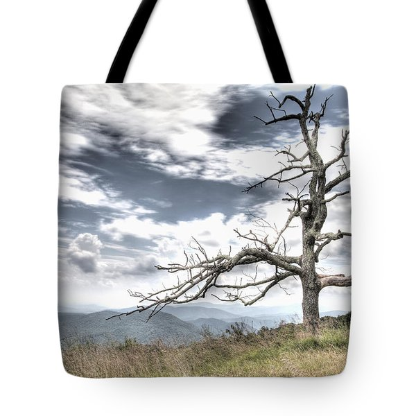 Solemn Tree Tote Bag by Michael Clubb