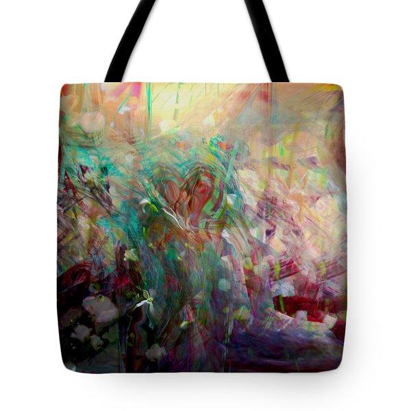 Something Beautiful Tote Bag by Linda Sannuti