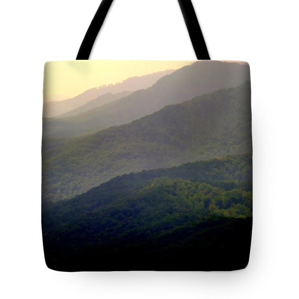 Song Of The Hills Tote Bag by Karen Wiles