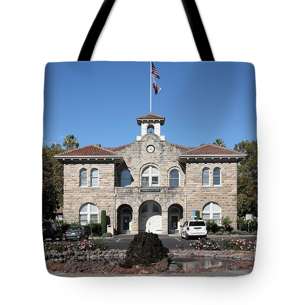 Sonoma City Hall - Downtown Sonoma California - 5d19260 Tote Bag by Wingsdomain Art and Photography