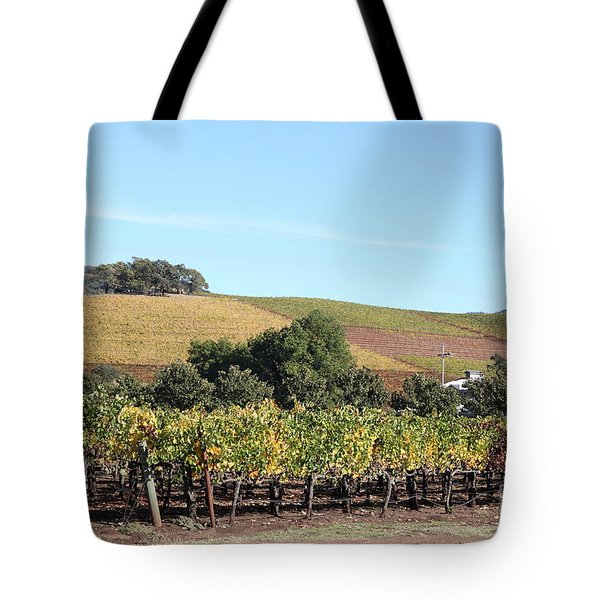 Sonoma Vineyards - Sonoma California - 5D19307 Tote Bag by Wingsdomain Art and Photography