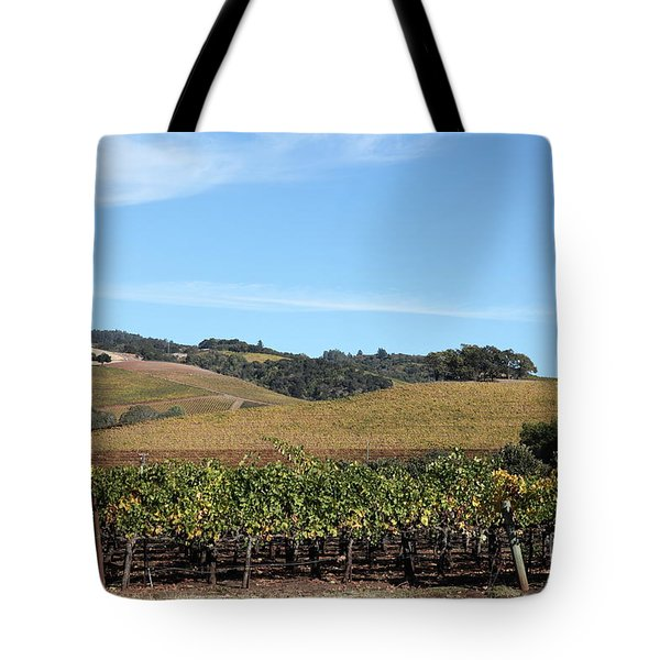Sonoma Vineyards - Sonoma California - 5D19309 Tote Bag by Wingsdomain Art and Photography