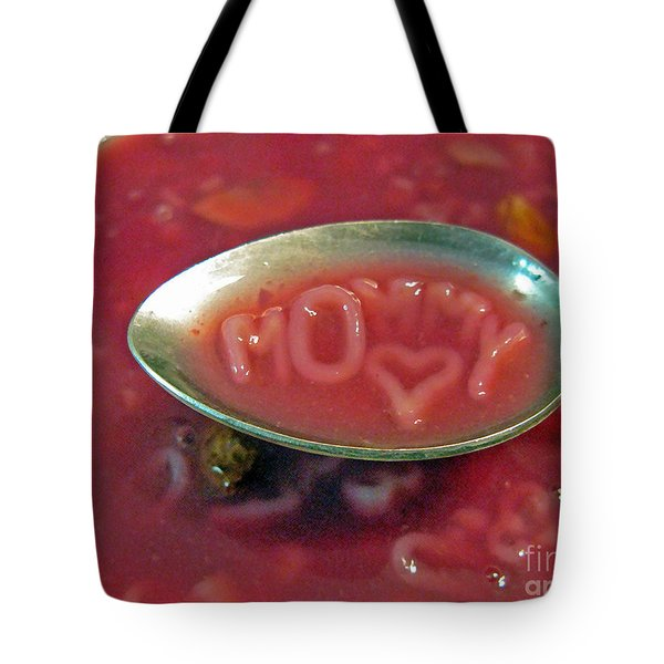 Soup For Mommy Tote Bag by Ausra Paulauskaite