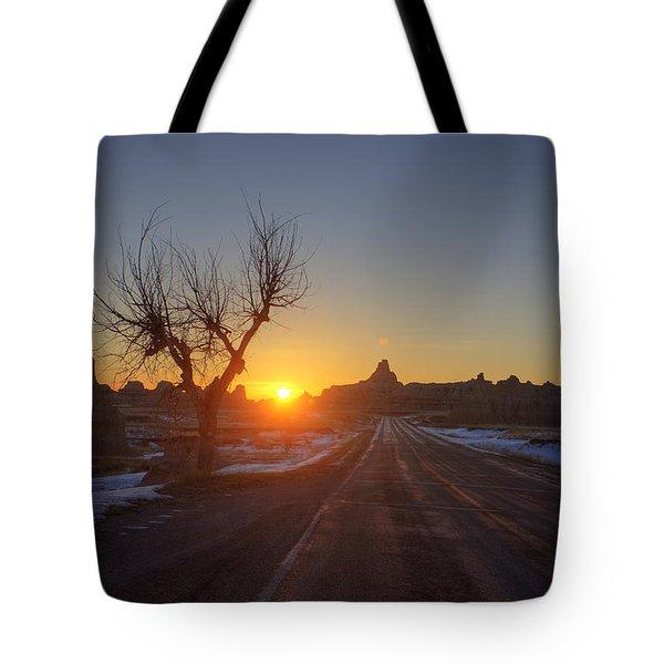 South Dakota Badlands Tote Bag by Mark Duffy