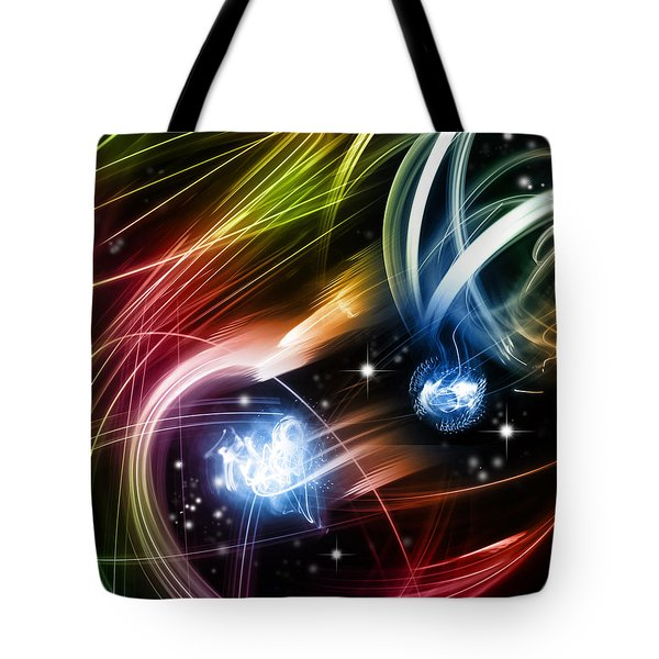 Space Tote Bag by Les Cunliffe