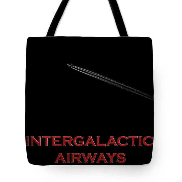 Space Travel Poster Tote Bag by Andrew Fare