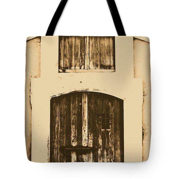 Spanish Fort Door Castillo San Felipe Del Morro San Juan Puerto Rico Prints Rustic Tote Bag by Shawn O'Brien