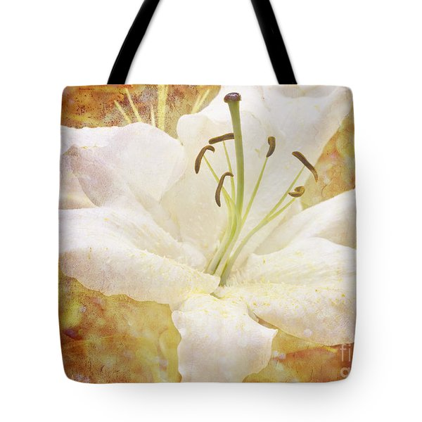 Sparkling Lily Tote Bag by Clare Bambers