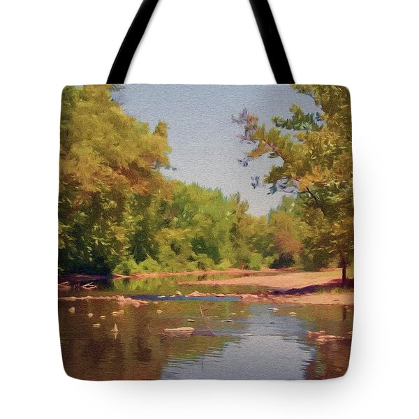 Spavinaw Creek Tote Bag by Jeff Kolker