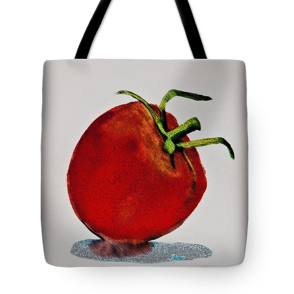 Speckled Tomato Tote Bag by Jani Freimann