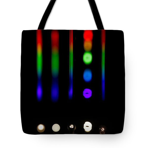 Spectra Of Energy Efficient Lights Tote Bag by Ted Kinsman