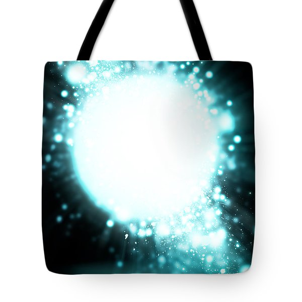 Sphere Lighting Tote Bag by Setsiri Silapasuwanchai