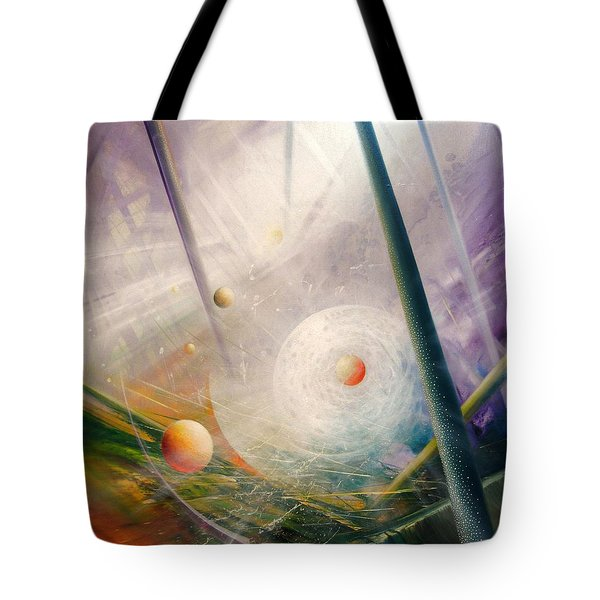 Sphere New Lights Tote Bag by Drazen Pavlovic