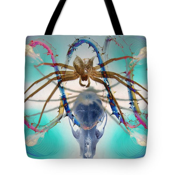 Spider Dna Tote Bag by Adam Long