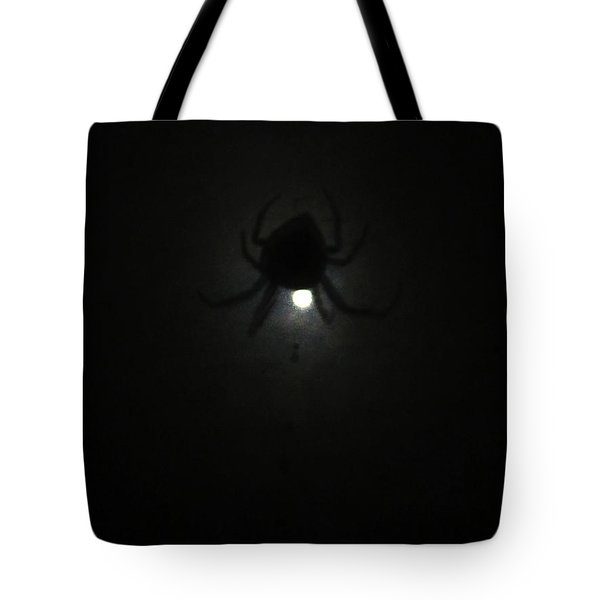 Spider In The Moonlight Tote Bag by Kym Backland