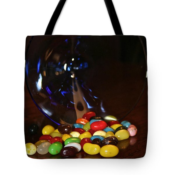 Spilled Beans Tote Bag by Susan Herber