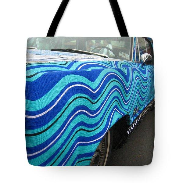 Spin A Yarn Car Tote Bag by Kym Backland