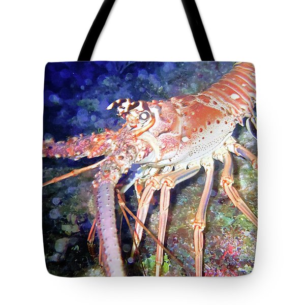 Spiney Lobster Tote Bag by Barry Jones