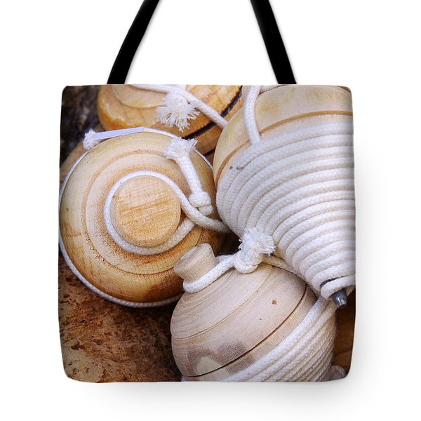Spinning Tops Tote Bag by Carlos Caetano