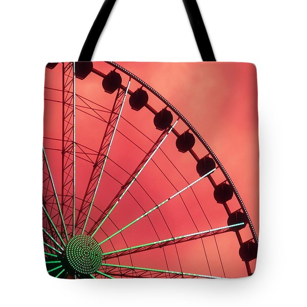 Spinning Wheel  Tote Bag by KAREN WILES