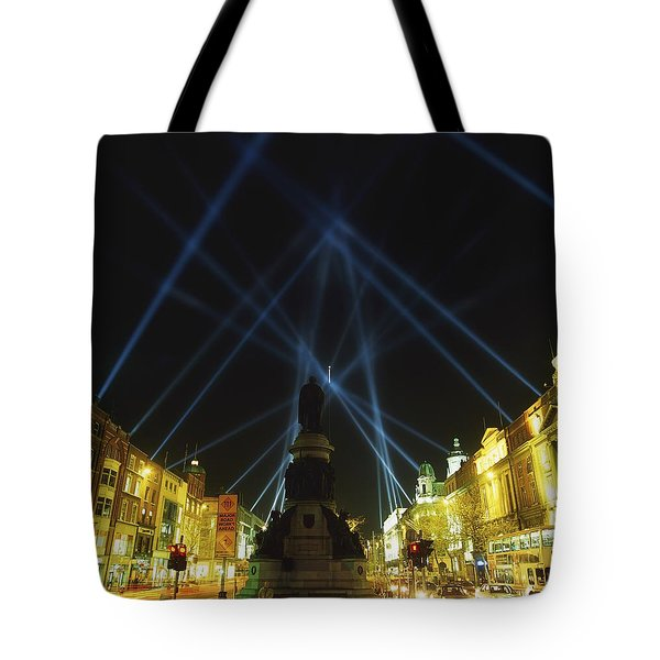 Spire Of Dublin, Oconnell Street Tote Bag by The Irish Image Collection