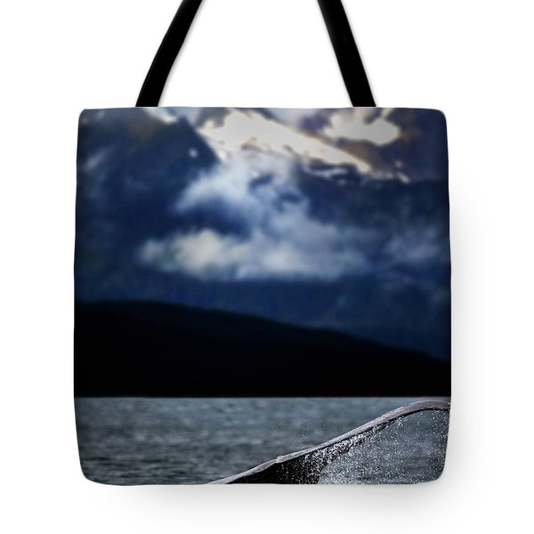 Splash From Tail Of Humpback Whale Tote Bag by Richard Wear