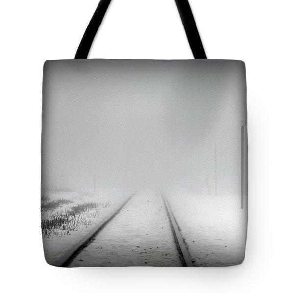 Spooky Train Tracks Tote Bag by Ms Judi