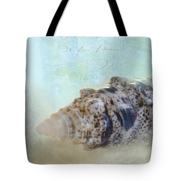 Spotted Auger Seashell Tote Bag by Betty LaRue