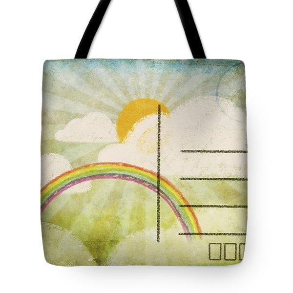 spring and summer postcard Tote Bag by Setsiri Silapasuwanchai