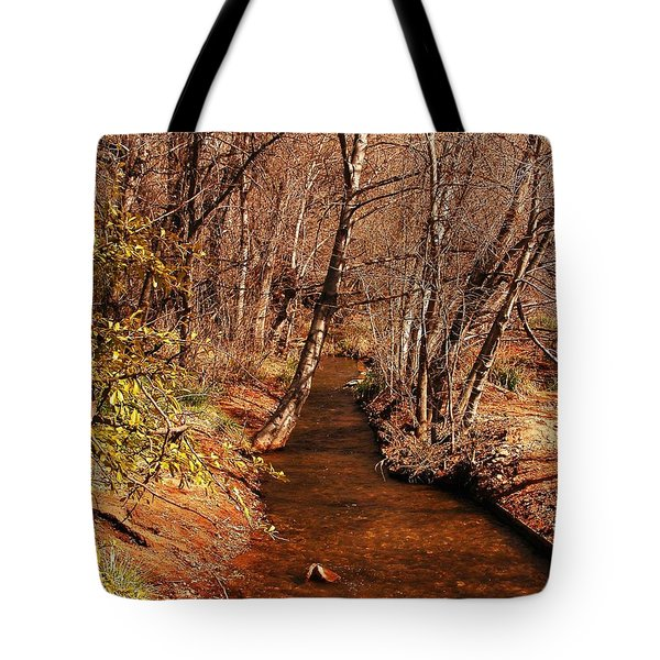 Spring at Red Rock Crossing Tote Bag by Marilyn Smith