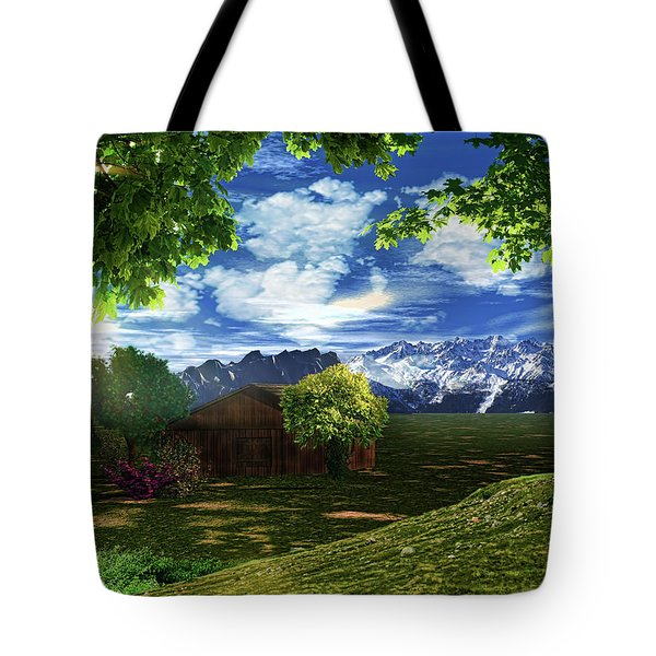 Spring Dawn Tote Bag by Lourry Legarde