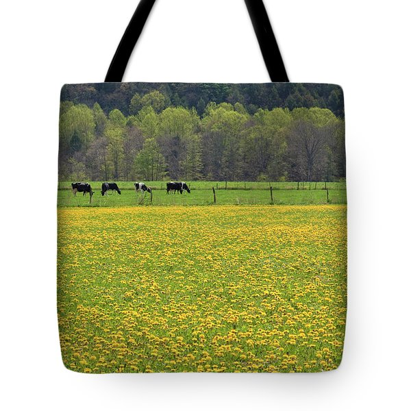 Spring Meadow Flowers Tote Bag by John Stephens