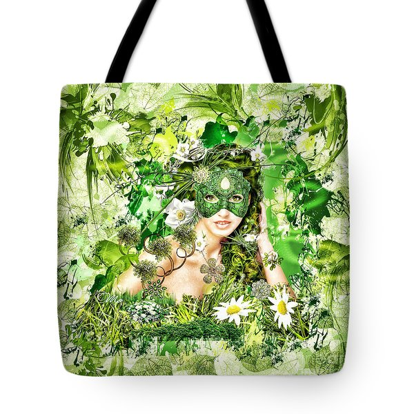 Spring Tote Bag by Mo T